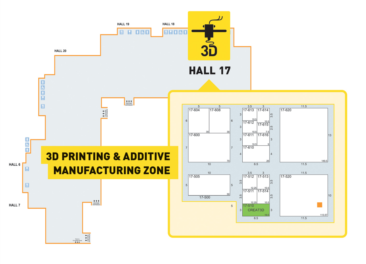 Hall 17 3D Zone