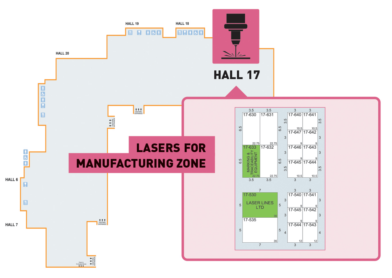 Hall 17 Lasers Zone