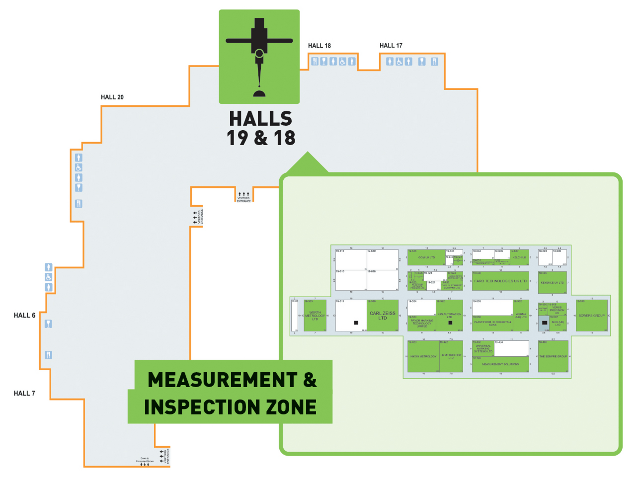 Hall 19 & 17 Measurement Zone
