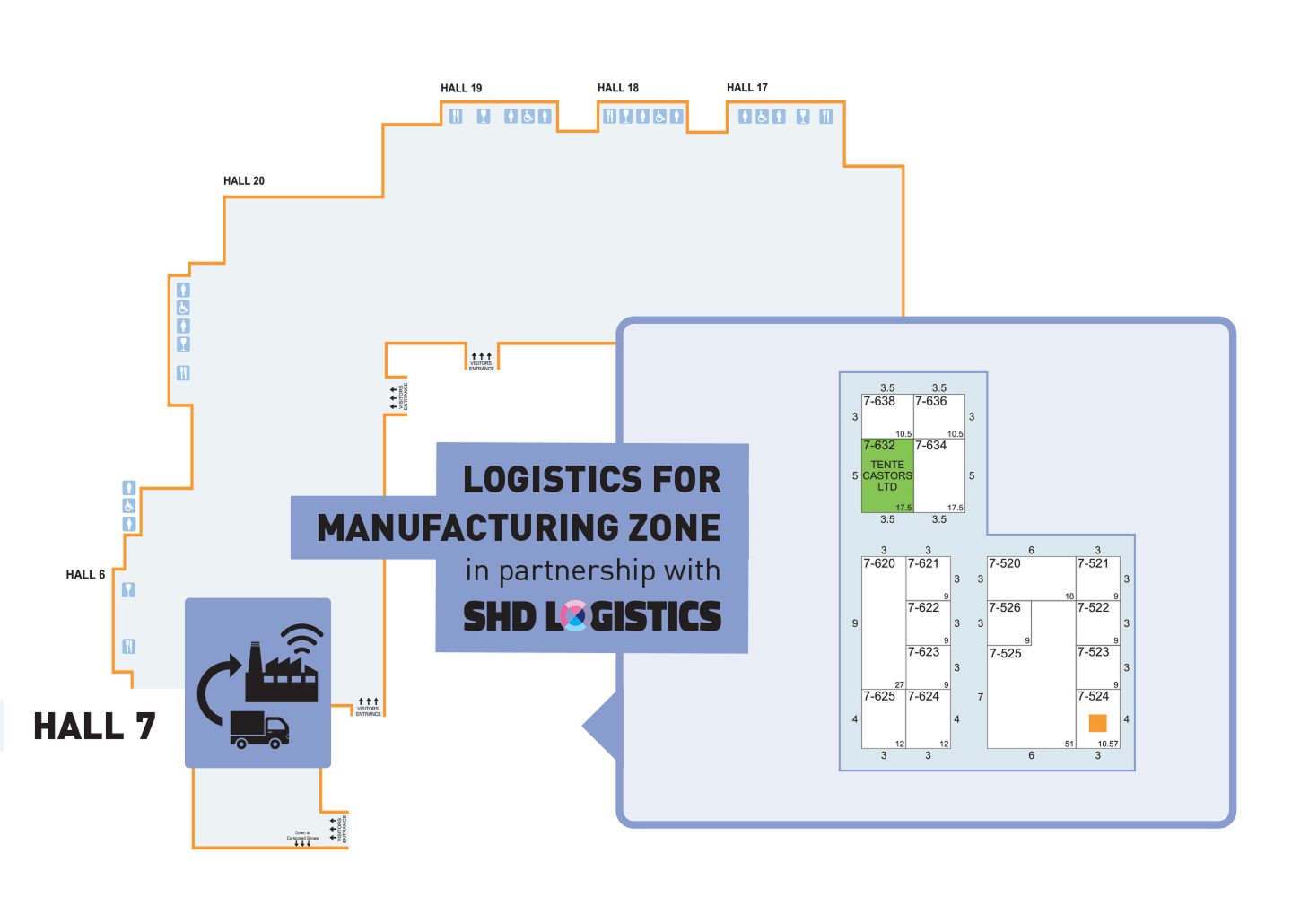 logistics zone hall 7